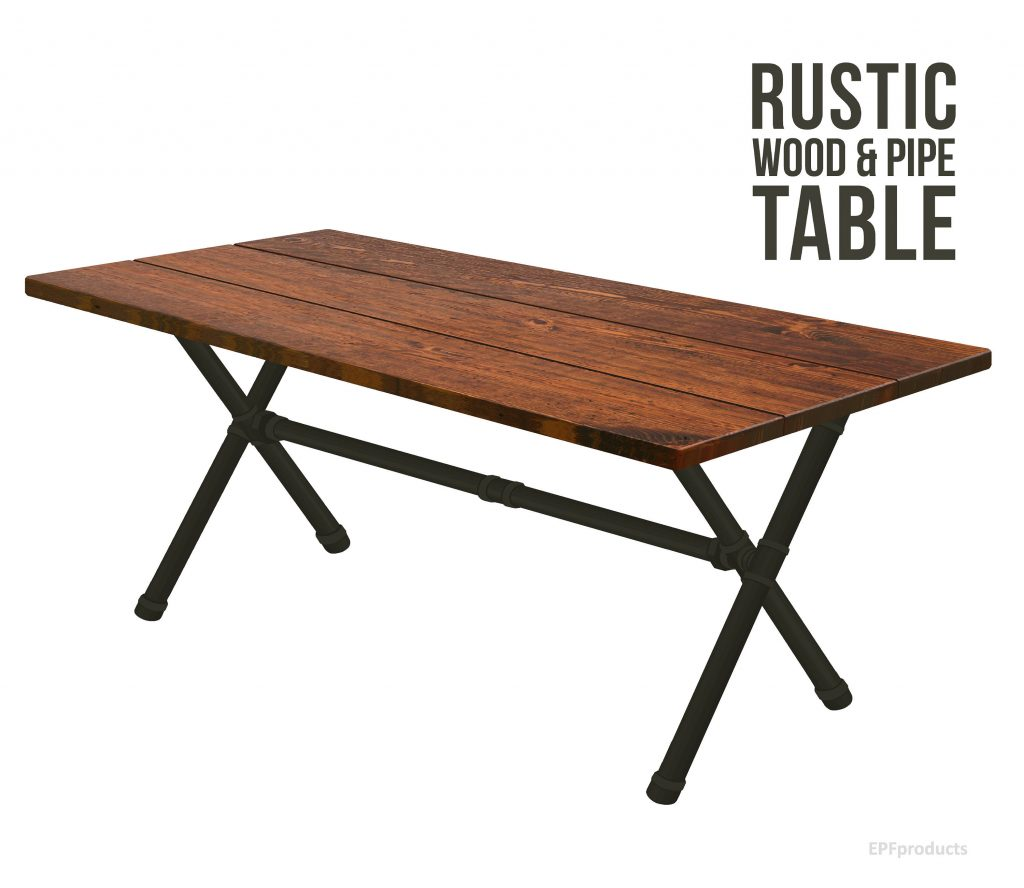 X Leg Trestle Table Rustic Wood Pipe Table X Pipe Dining Etsy