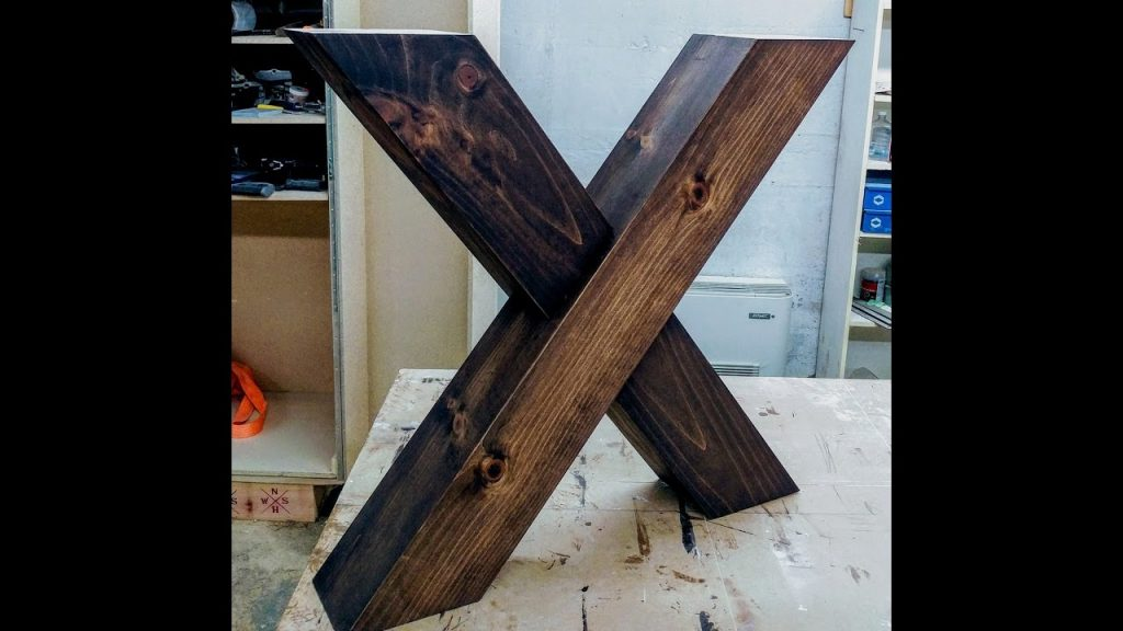 X Shaped Farm Table Legs Youtube