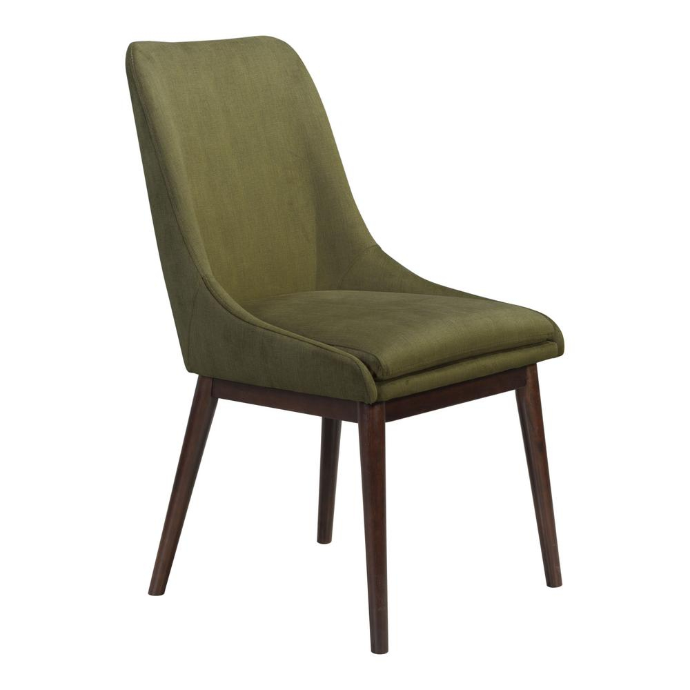 Zuo Ashmore Emerald Green Dining Chair Set Of 2 101009 The Home