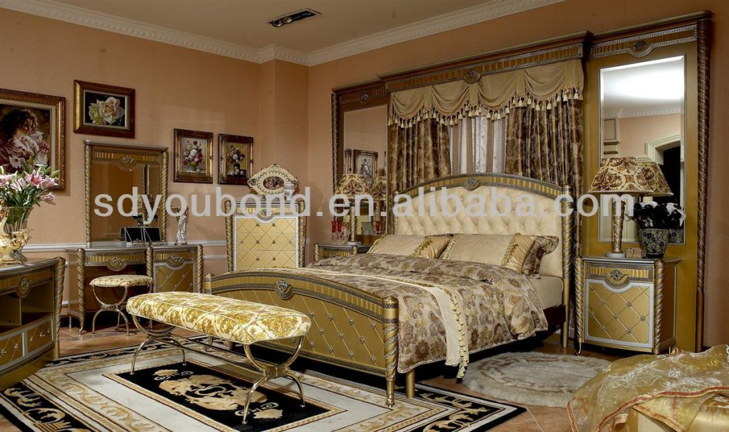 0016 2014 High End Wood Classic Luxury Italian Bedroom Sets