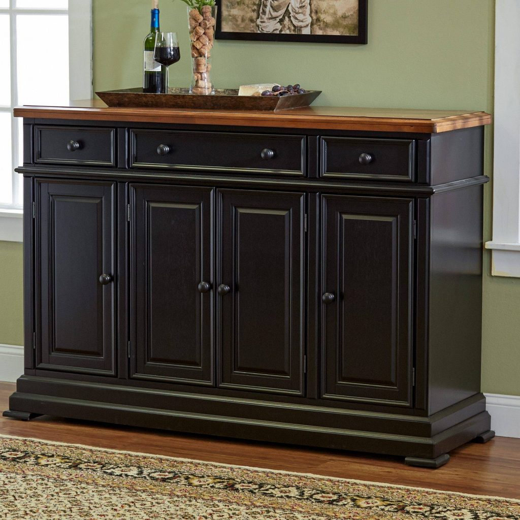 15 Best Of Black Dining Room Sideboards Black Liquor Cabinet