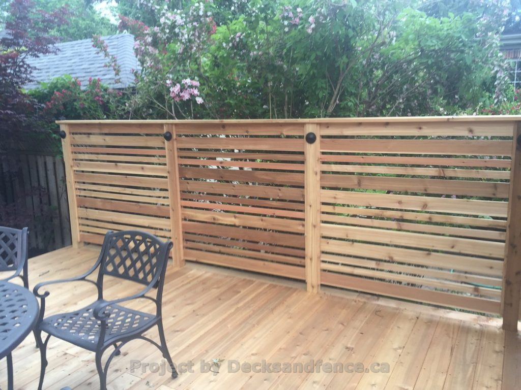 2 Decks With Glass Railings And Cedar Toronto Decks Design Deck