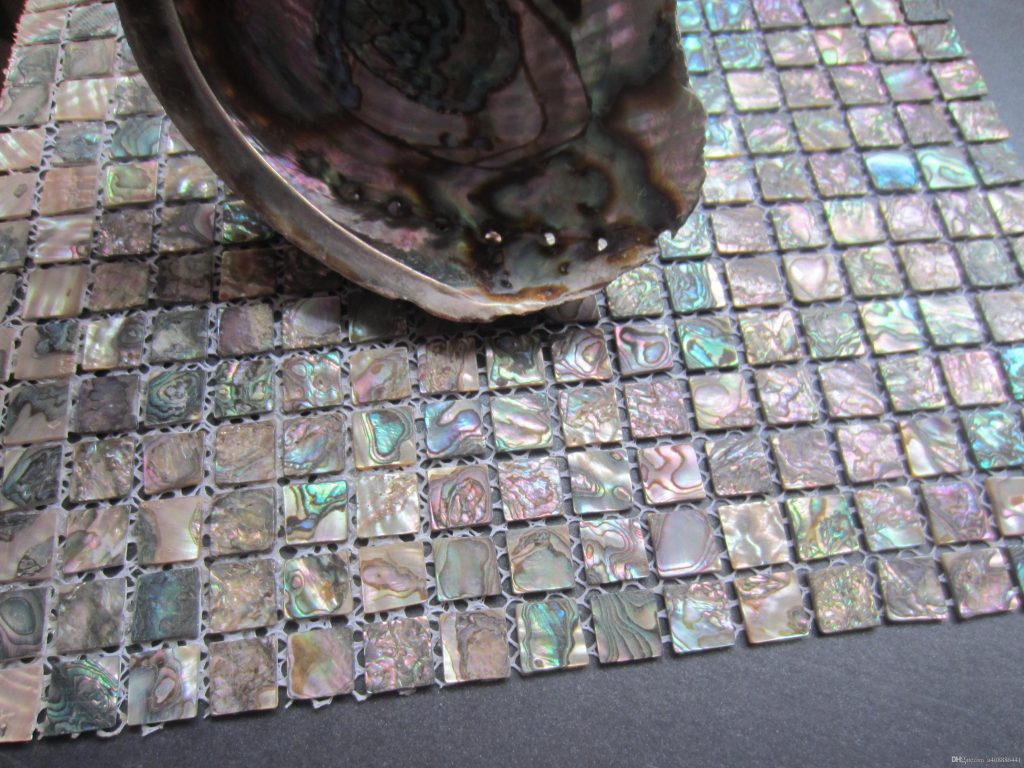 2019 Abalone Shell Green Mosaic Tilekitchen Backsplash Tilesmother