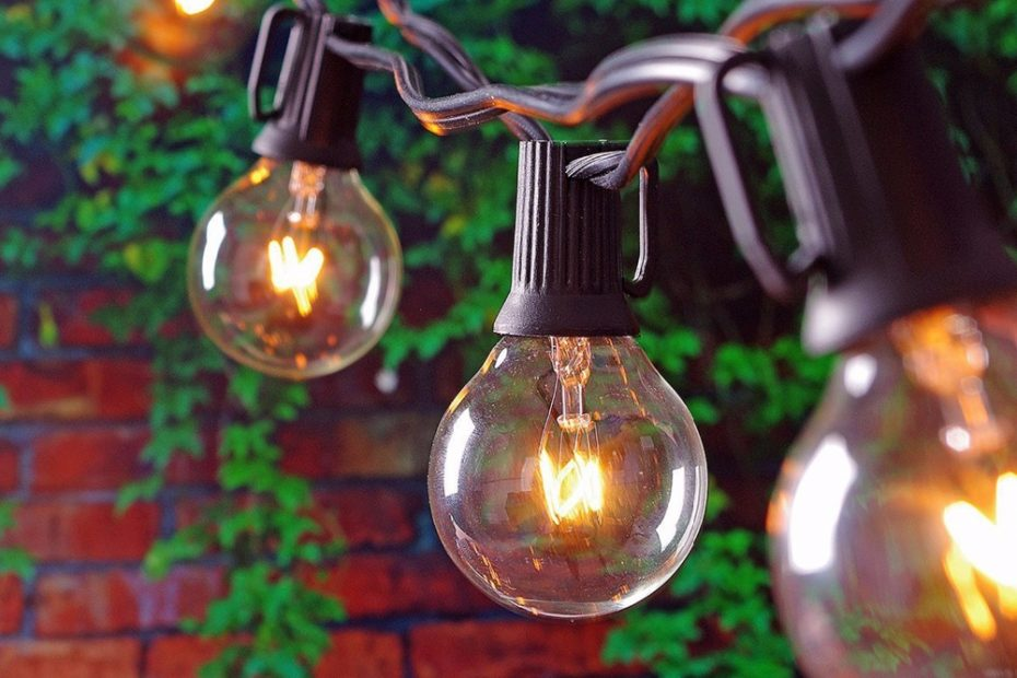 25ft Globe String Lights With 25 G40 Bulbs Vintage Patio Garden