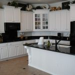 Kitchen Cabinets with Black and White