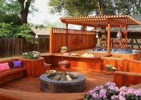 Deck with Hot Tub Design Ideas