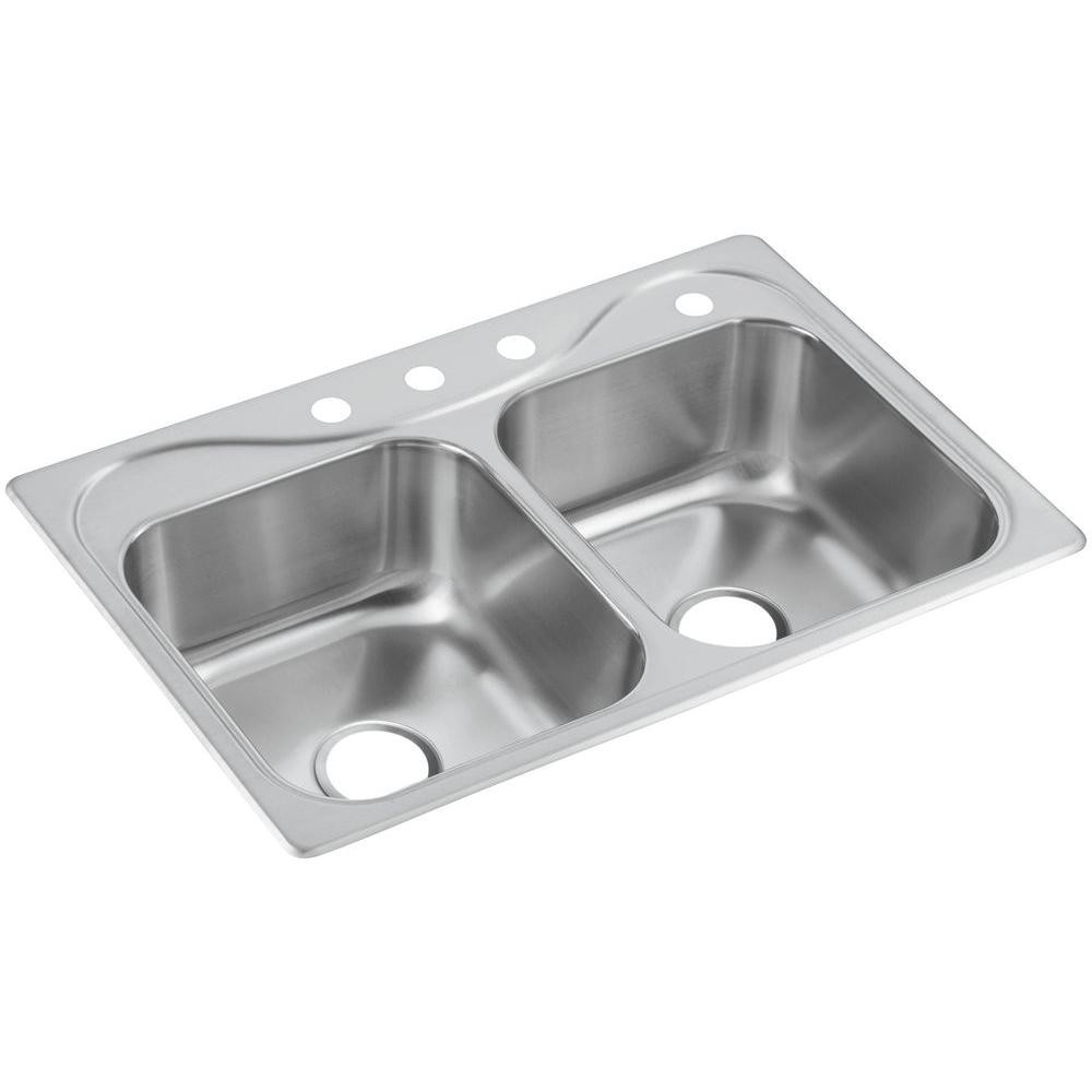 33quot X 22quot X 8quot Deep Stainless Steel Double Kitchen Sink