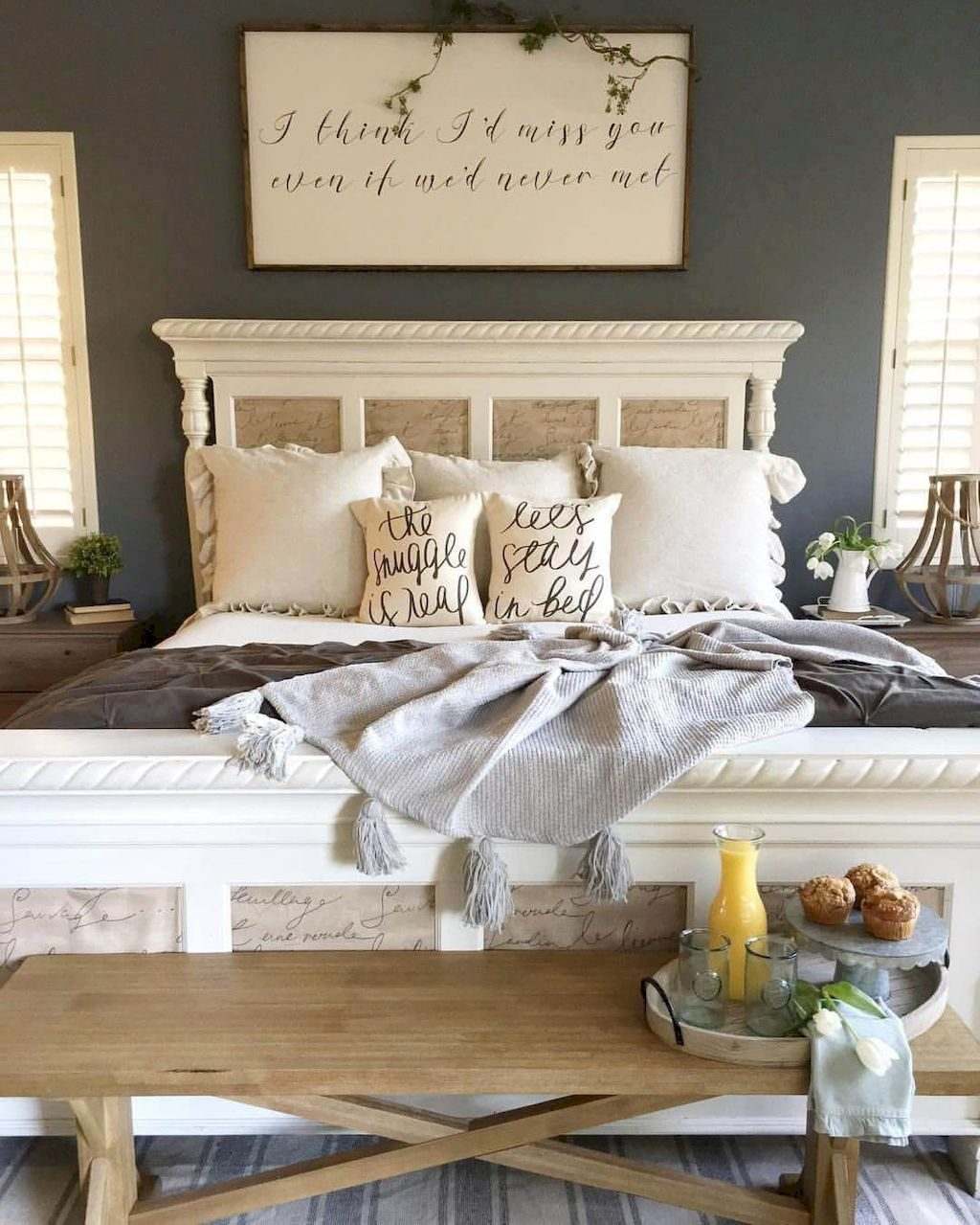 35 Amazing Farmhouse Bedroom Decor Inspiration Ideas Farmhouse