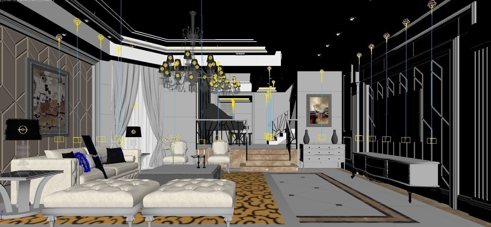 3d Luxury Bedroom And Study Room Cgtrader