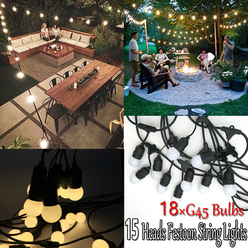 48 Foot E27 Outdoor Lighting Patio Party Diy Christmas Lights String