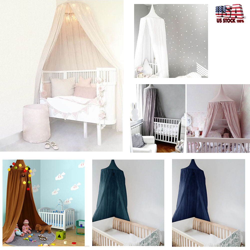 7 Colors Ba Kids Playing Round Dome Hanging Bed Canopy Mosquito