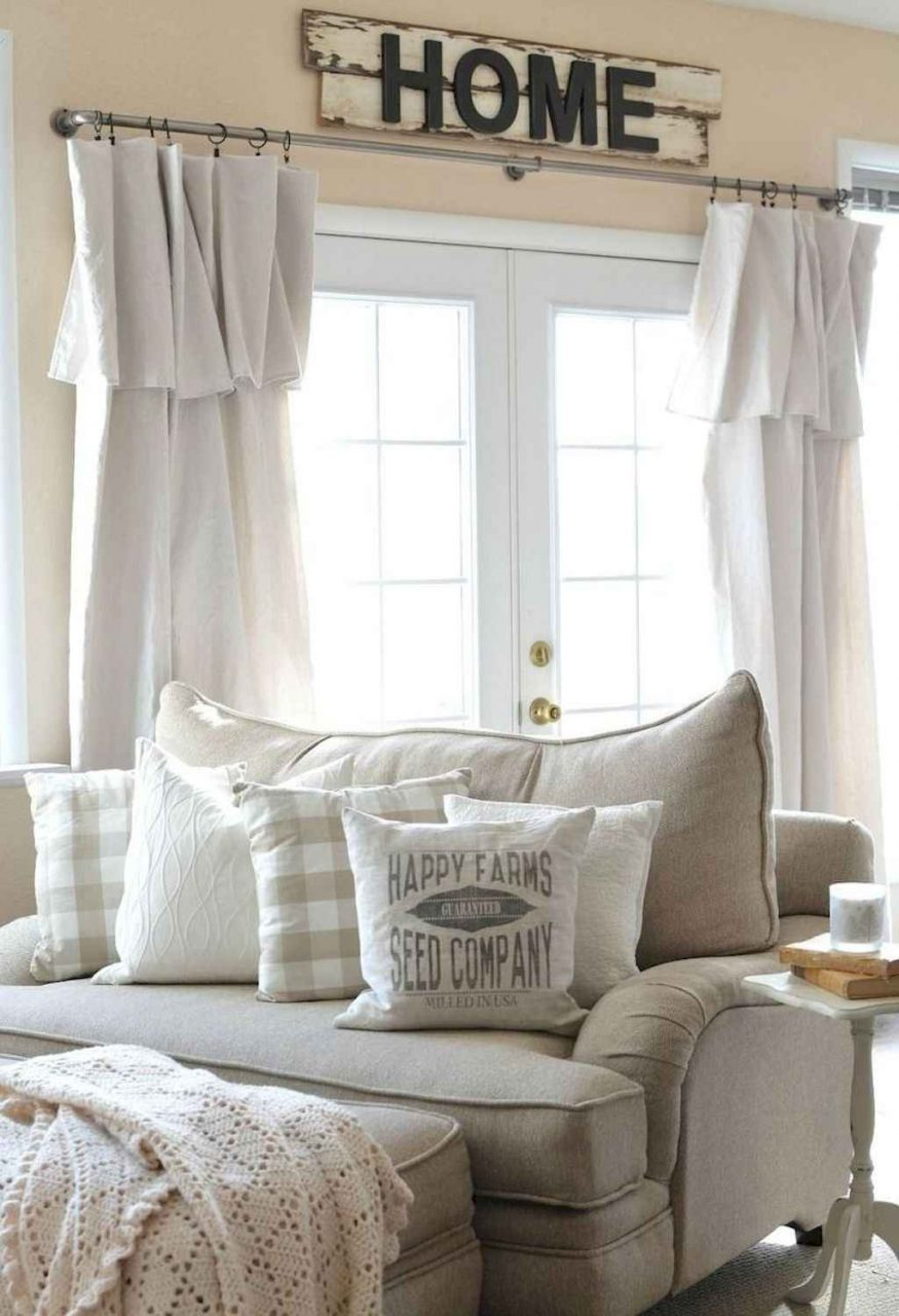 77 Modern Farmhouse Curtains For Living Room Decorating Ideas