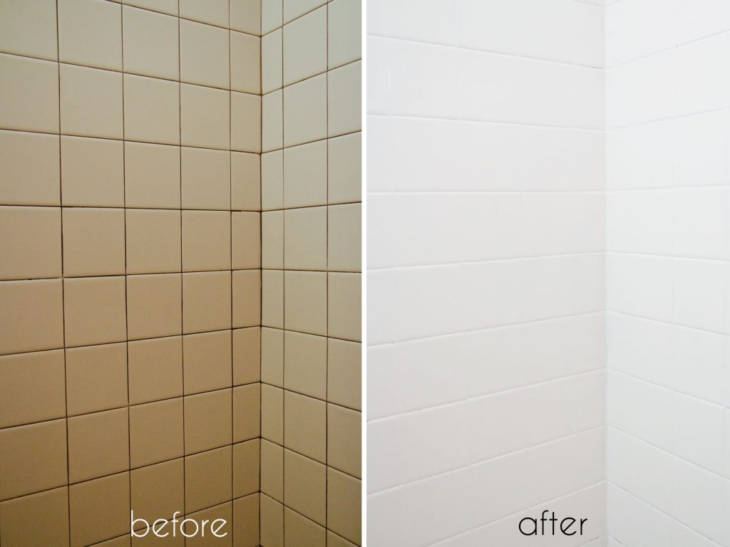 A Bathroom Tile Makeoverwith Paint Ramshackle Glam