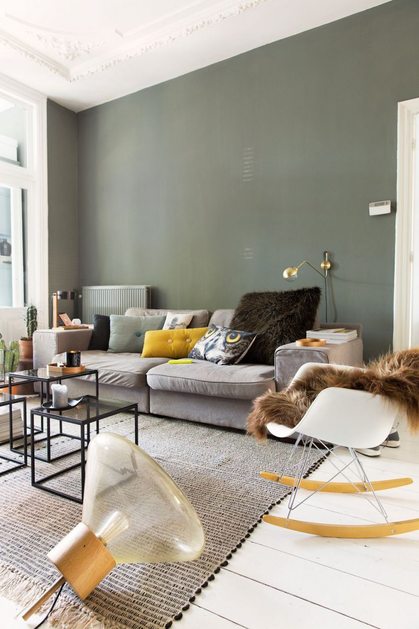 A Grey Dutch Apartment Insideoutside Living Room Green Living