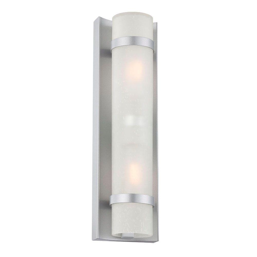 Acclaim Lighting Apollo Collection 2 Light Brushed Silver Outdoor