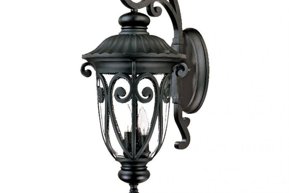 Acclaim Lighting Naples Collection 3 Light Matte Black Outdoor Wall
