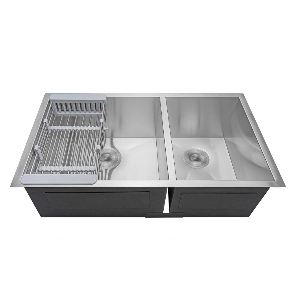 Akdy 32 X 18 Undermount Stainless Steel Double Bowl 6040 Kitchen