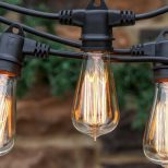 Ambience Pro Edison Waterproof String Lights Filament Bulbs 48 Ft