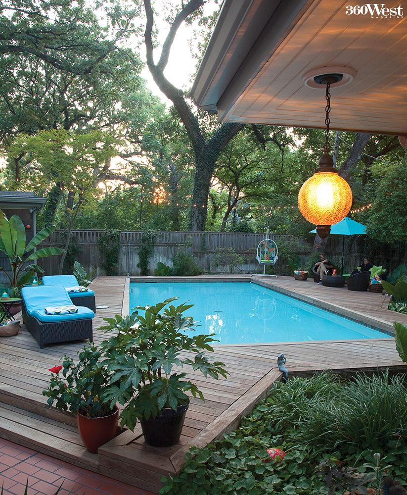 An Elevated Ipe Deck Surrounds The Saltwater Pool 360 West Magazine
