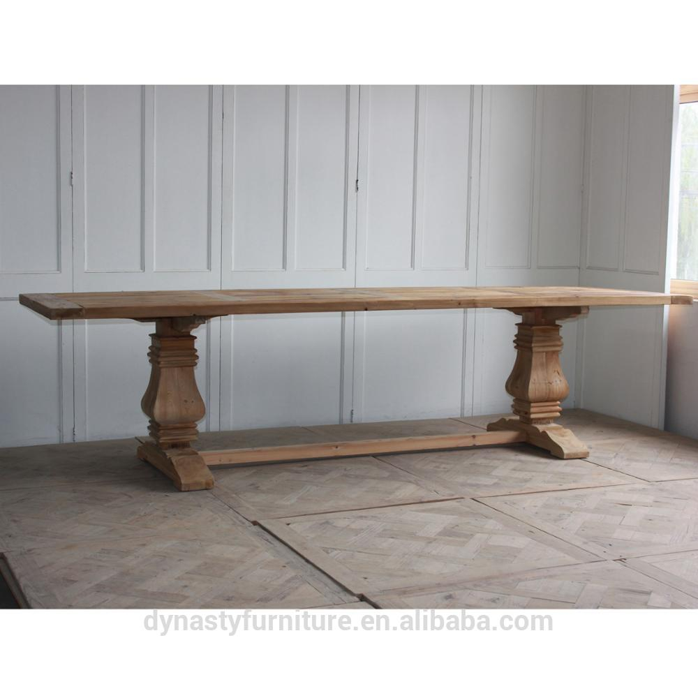 Antique Reproduction Furniture Wholesale Wood Extension Dining Table
