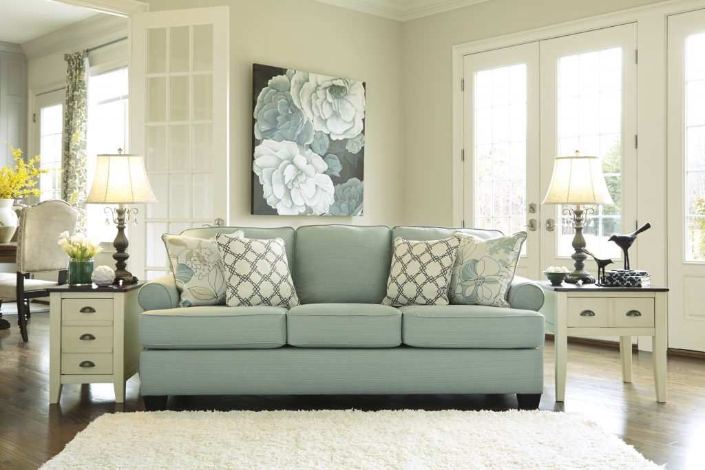 Ashley Daystar Seafoam Sofa And Love Dream Rooms Furniture