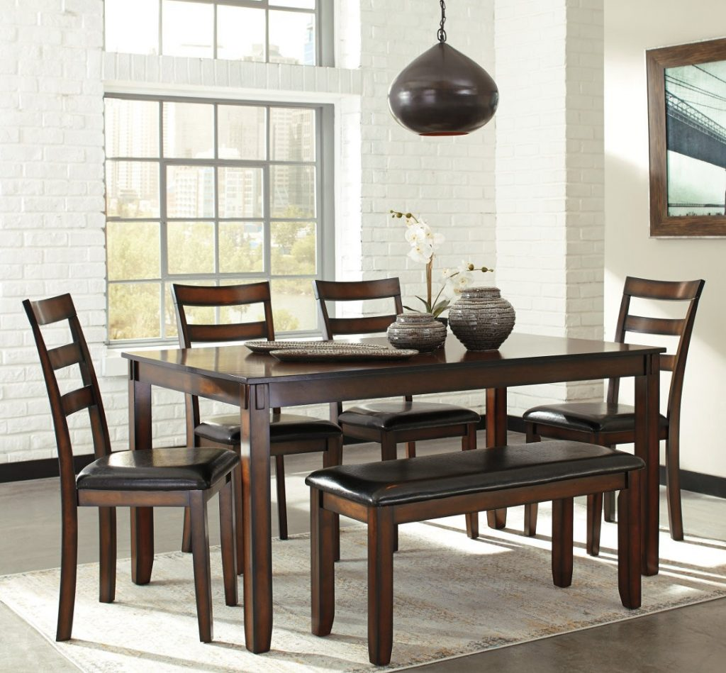 Ashley Furniture Coviar Dining Table Set In Brown Local Furniture