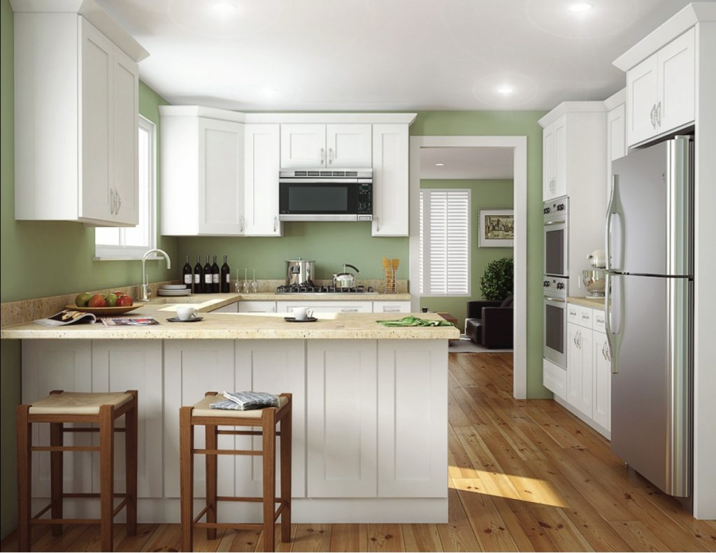 Aspen White Shaker Ready To Assemble Kitchen Cabinets Kitchen