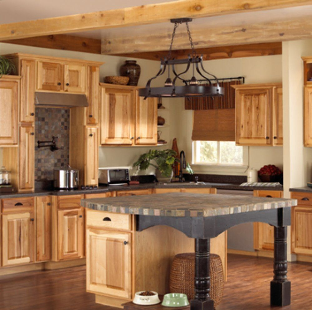 Assembledhickorykitchencabinets These Natural Hickory Kitchen