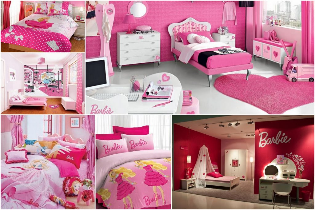Attractive Ideas For Pink Girls Bedrooms Barbie Decorations