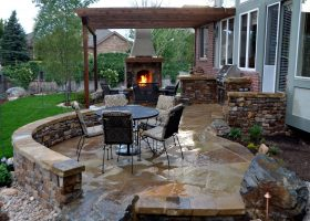 Outdoor Covered Patio Stone