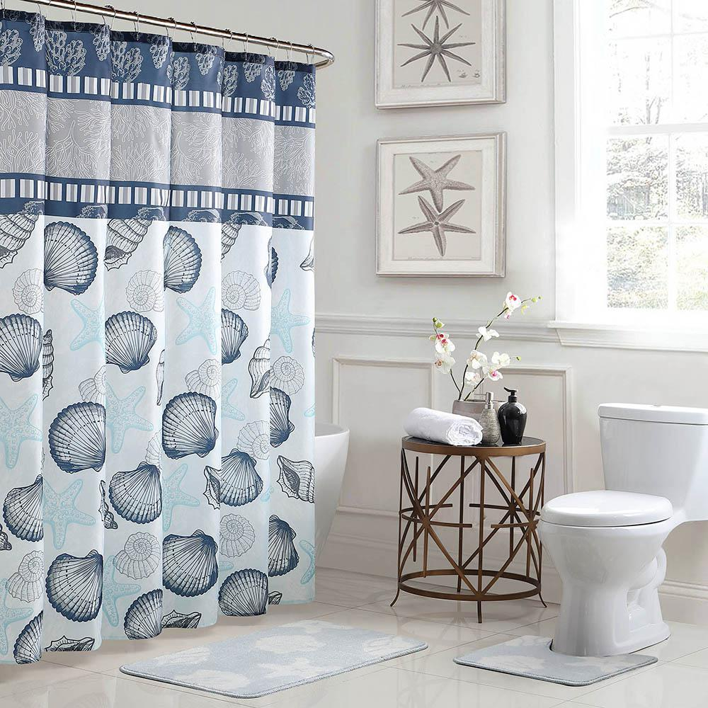 Bath Fusion Island 18 In X 30 In Bath Rug And 72 In X 72 In