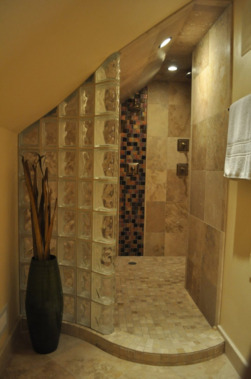 Bathroom Cabinets Surround Shower Designs With Glass Tile Excerpt