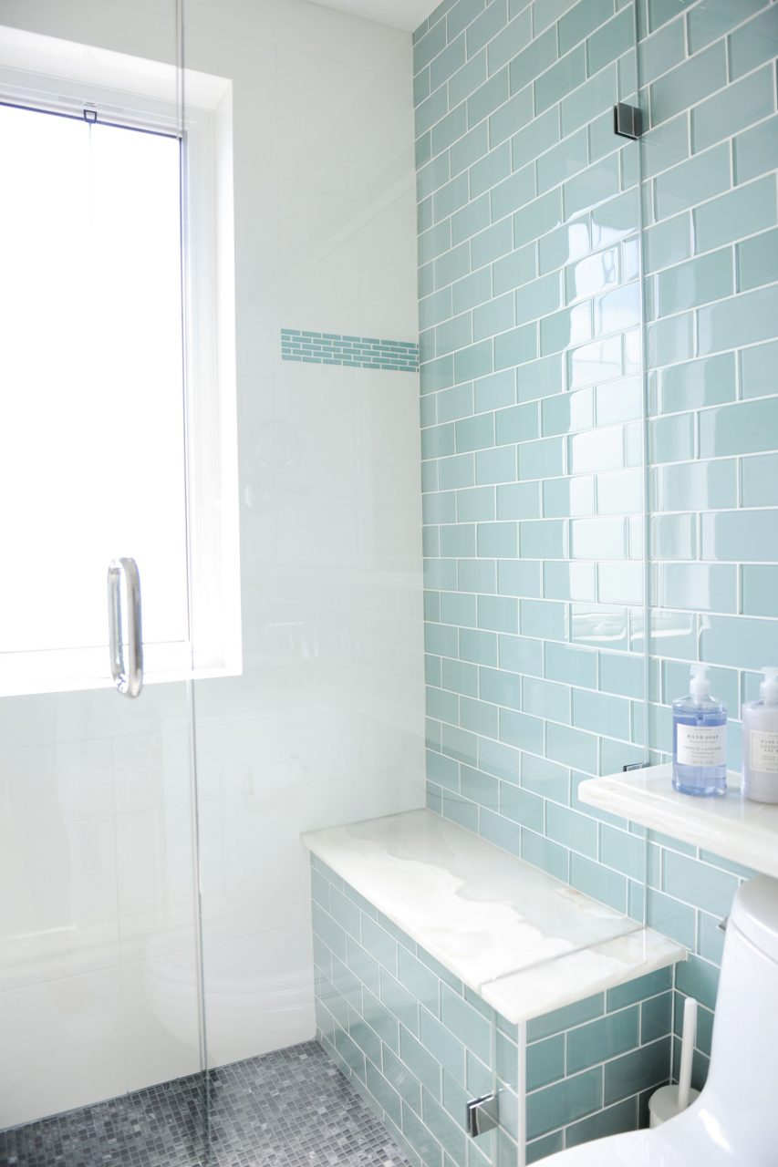 Bathroom Designed Enviable Designs An Accent Wall In Turquoise