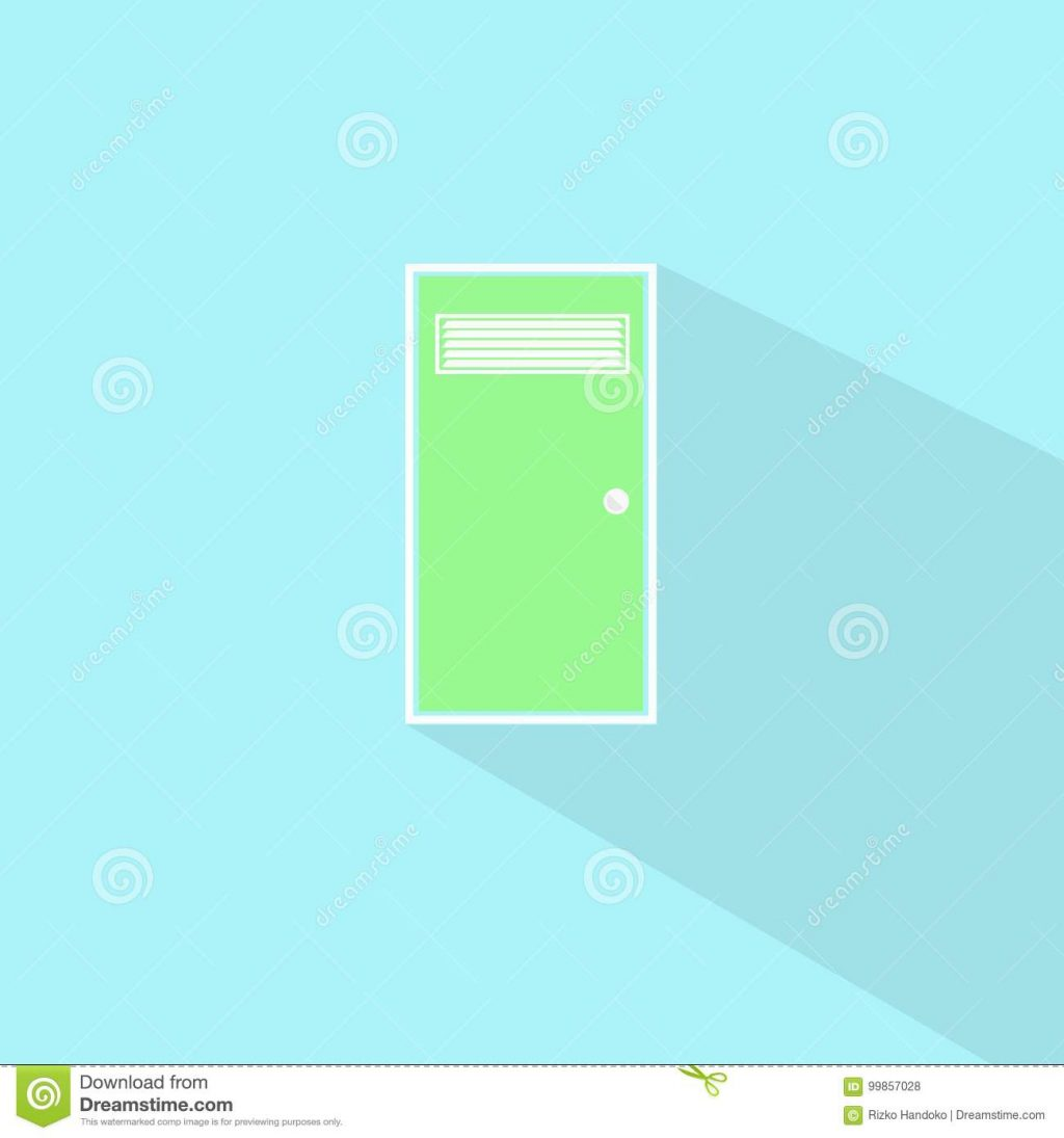 Bathroom Door Stock Illustration Illustration Of Design 99857028