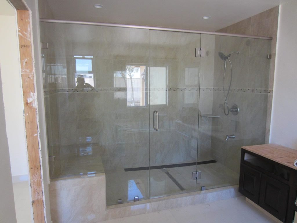 Bathroom Glass Showers Large Shower Enclosure Patriot Glass And