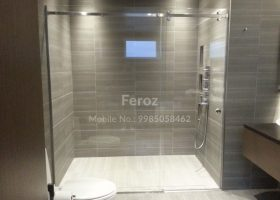 Bathroom Glass Shower Partition
