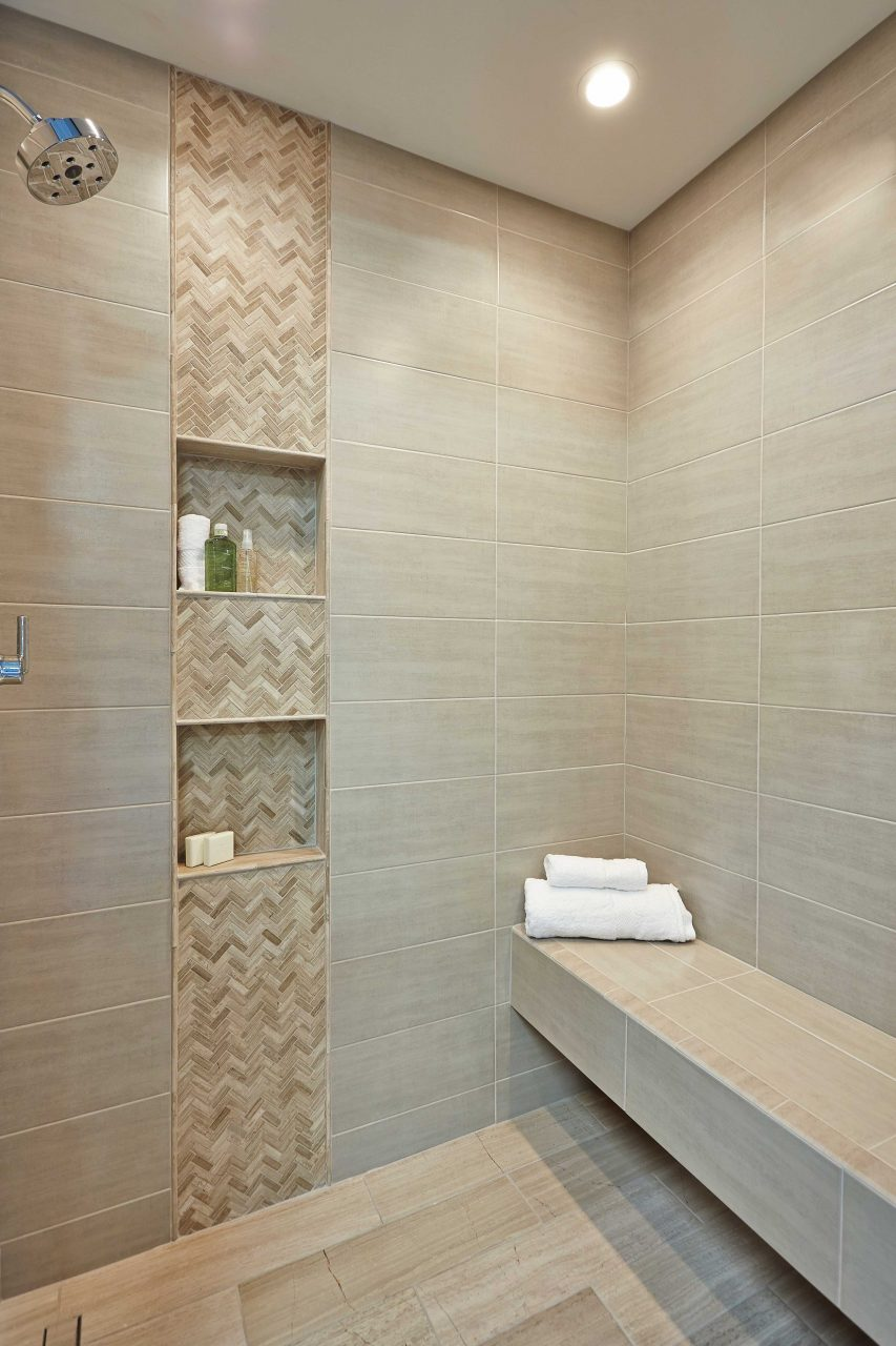 Bathroom Shower Accent Wall Tile Legno Small Herringbone 12 X 12