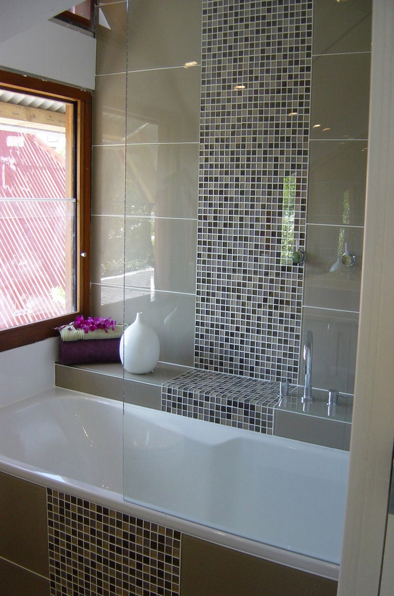 Bathroom Tiles Mosaic Glass Low Budget Interior Design