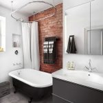 Industrial Brick Wall Bathroom