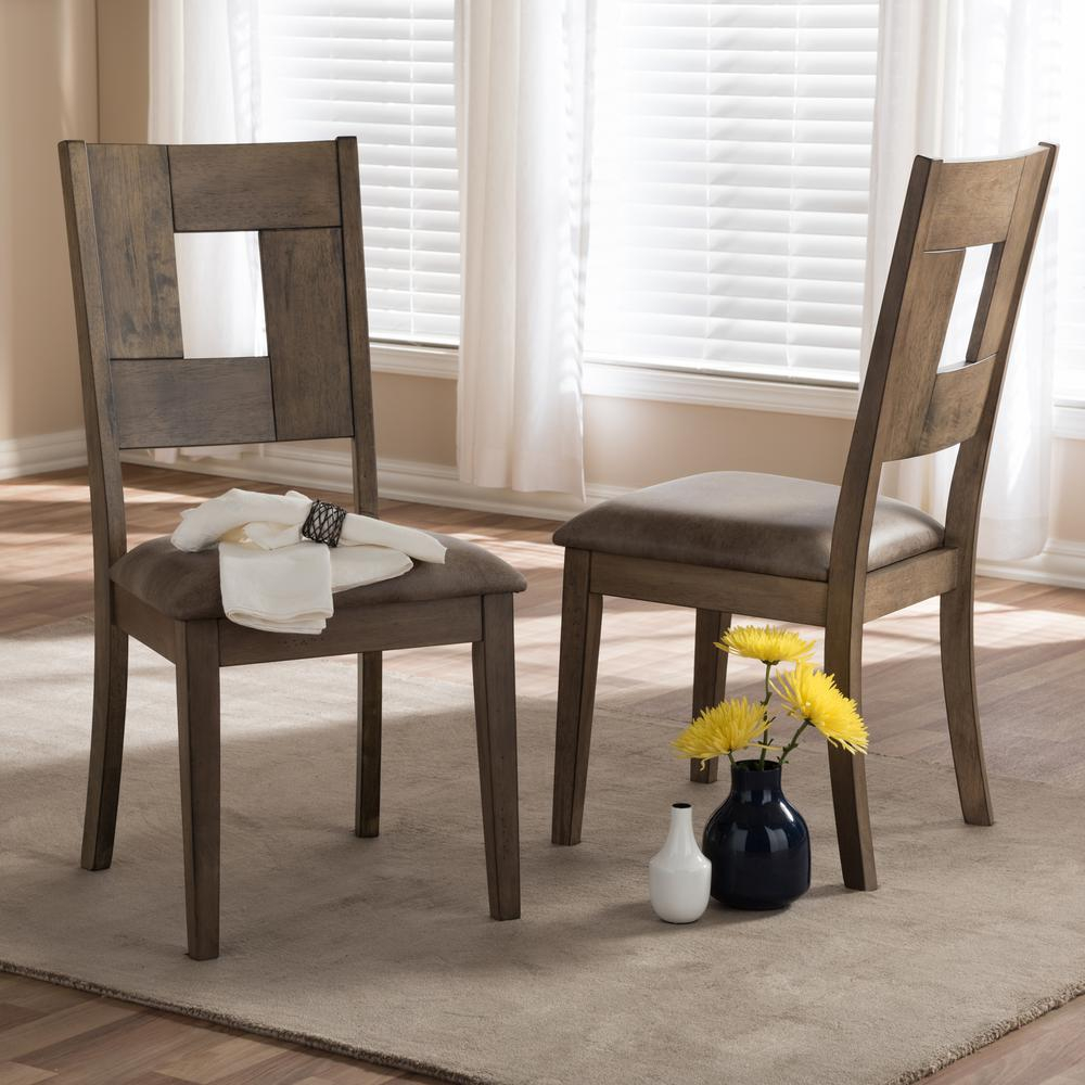 Baxton Studio Gillian Gray Wood Dining Chairs Set Of 2 2pc 7089 Hd