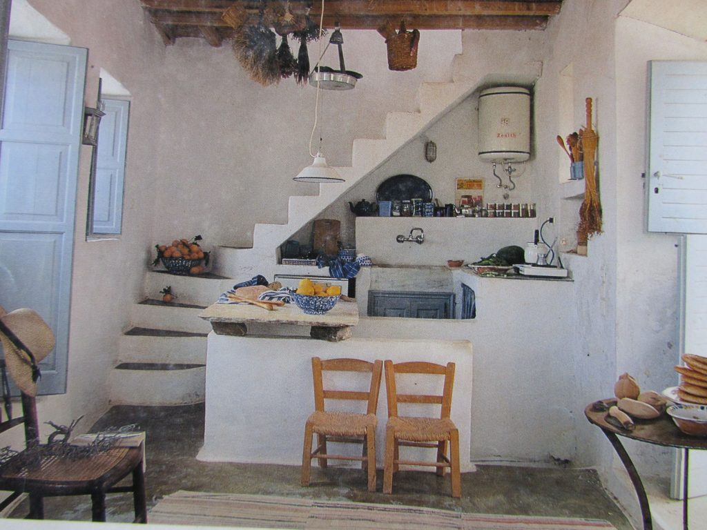 Beautiful Greek Home 01 Holiday Home Kitchen Under Stairs Home