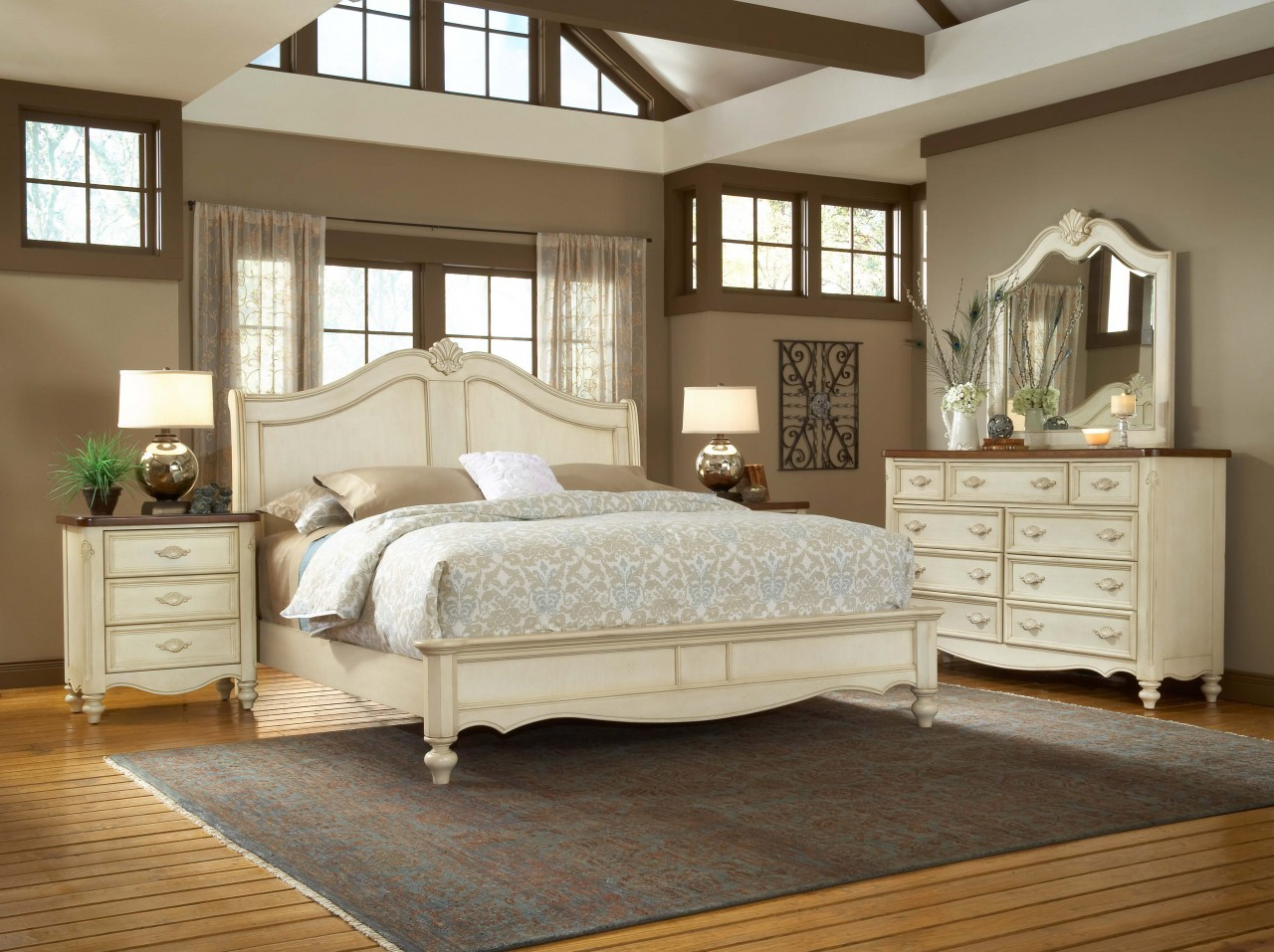 Image of: Bedroom Beautiful Bedroom Furniture Sets Queen White With White Layjao