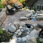 Patio Designs with Stone Walls