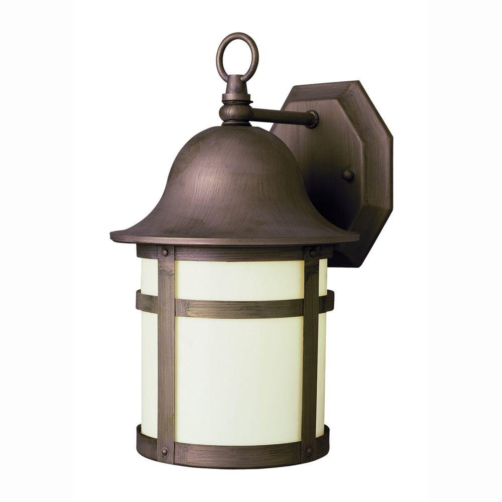 Bel Air Lighting Bell Cap 1 Light Outdoor Weathered Bronze Coach