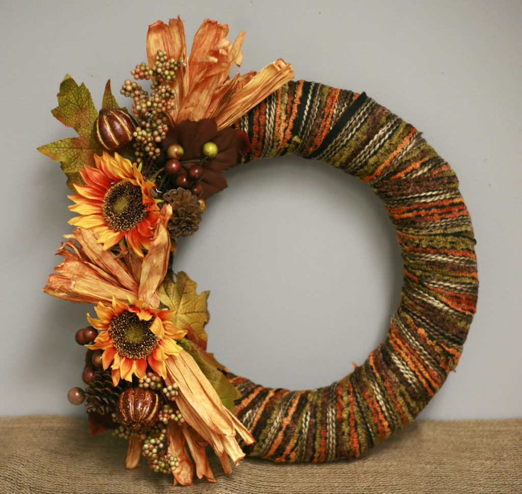 Ben Franklin Crafts And Frame Shop Make A Fall Wreath With Sunflowers