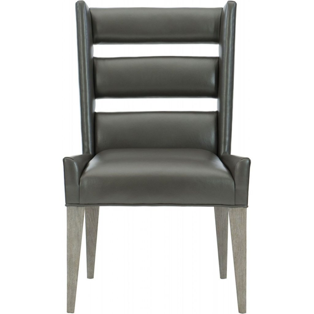 Bernhardt Furniture Interiors Ryder Leather Dining Side Chair