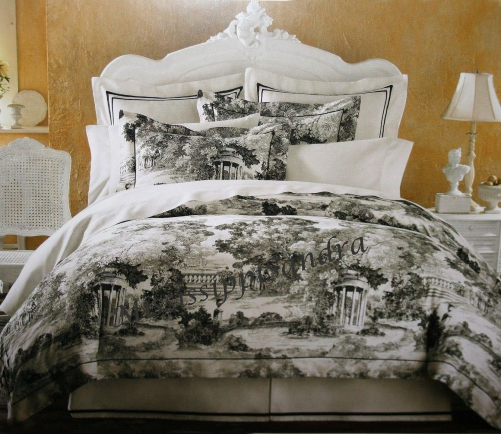Black And White Toile Bedding Toile White Bedding Toile