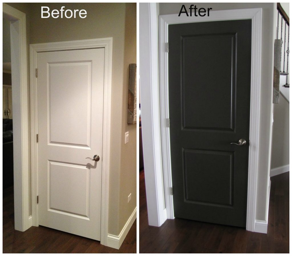 Black Interior Doors Before And After Door Before And After My