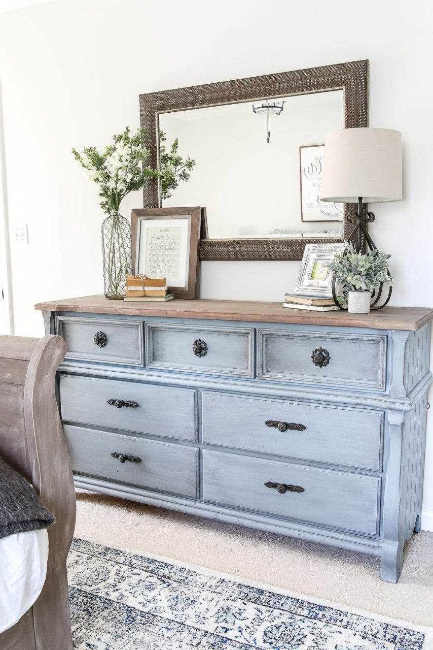 Blue Cottage Style Guest Bedroom Makeover Reveal Bhi Villa Dreams
