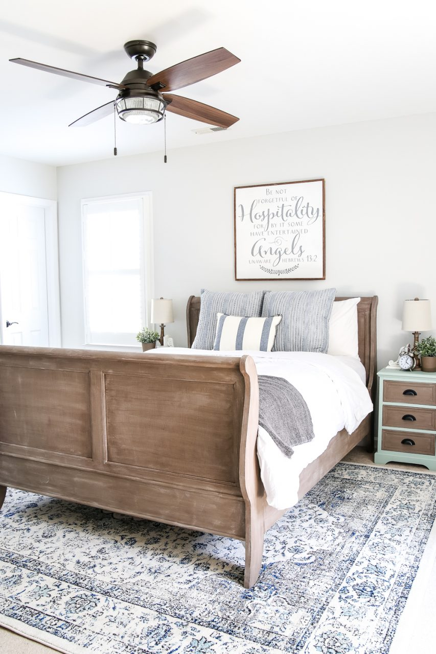 Blue Cottage Style Guest Bedroom Makeover Reveal Blesser House